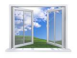 Open white window