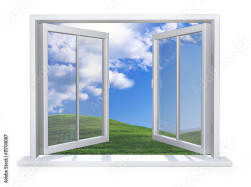 Open white window