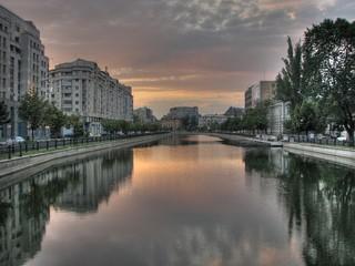 Sun set in Bucharest