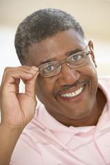 Portrait of Senior Man Wearing Glasses