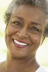 Portrait Of Senior Woman Smiling At Camera