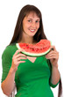 Girl with wate-rmelon