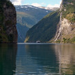 Famous Seven Sisters Waterfall in Norway