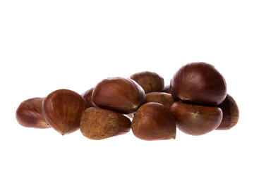 Raw Chestnuts Isolated