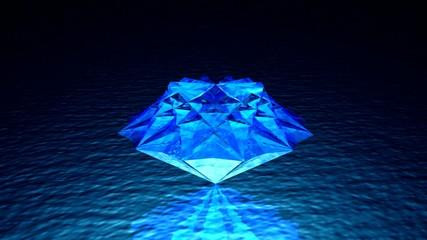 blue rotated brilliant