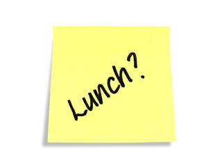 Stickies/Post-it Note: Lunch?