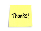 Stickies/Post-it Notes: Thanks!