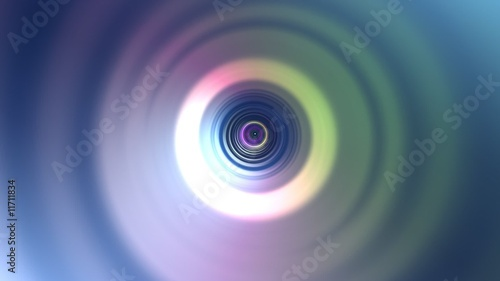 Abstract rainbow circle tunnel background