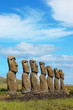 Moai at Ahu Akivi (Easter Island, Chile)