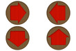 Cardboard Globe Arrows Icons