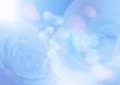 薔薇とハート ブルー