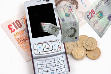 Mobile phone and cash