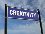Creativity signpost poster