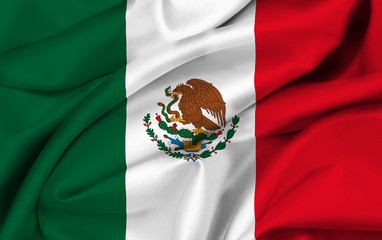 Mexican flag waving - Flag of Mexico