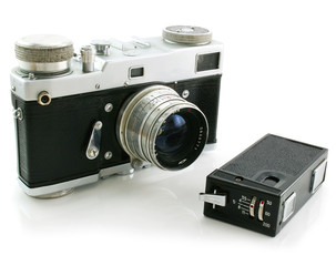 Small espionage photo camera and film camera