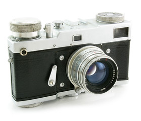 Old film photo camera