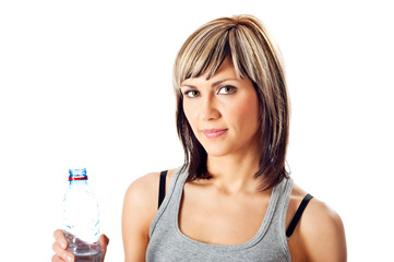 Sportswoman With a Bottle of Water