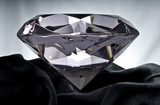Brilliant Diamond on Black Satin poster