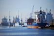 Leinwanddruck Bild - Emder Binnenhafen