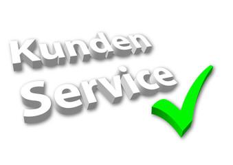 """""""Kunden Service"""" 3D mit Haken"""