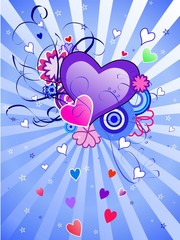 St.Valentine's Day Blue Background