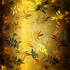 Background for design from multicoloured carved leaves