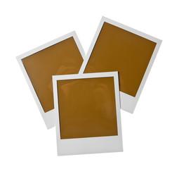 Isoliertes leeres Polaroid Foto mit Text Freiraum