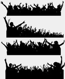 Fototapety Party silhouette, vector for design