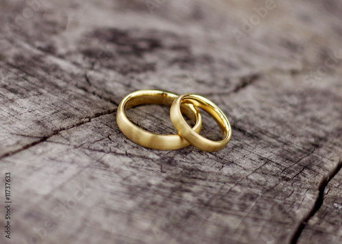 Leinwanddruck Bild Wedding Rings 1