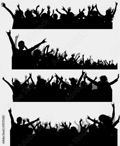 Party Silhouette Vector Free Party Silhouette Vector For