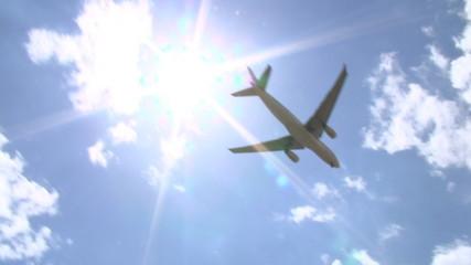 Aircraft 01 - Flying across sun, HD