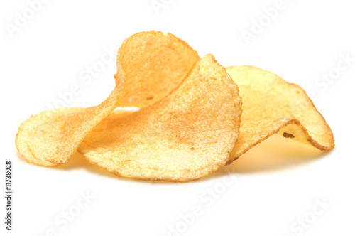 Three potato chips