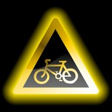 Warning sign - cycle