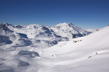 winter high mountains, French Alps