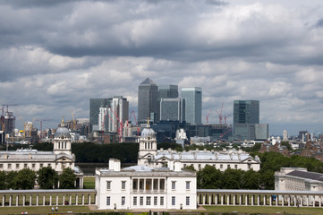 A view of the London skyline from greenwich park