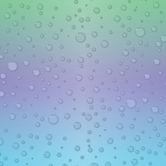 Background in blue, green and purple with waterdrops