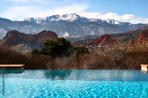 Infinity Pool with Mountain View