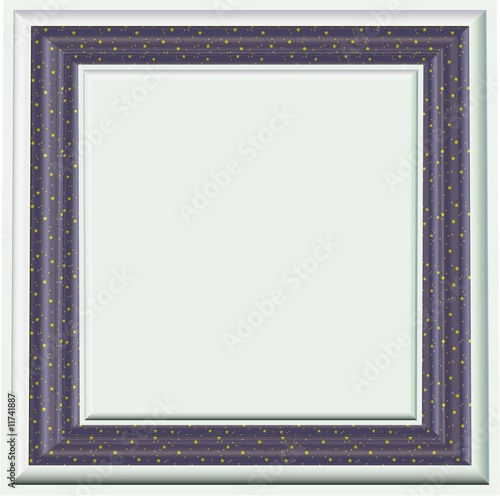 Stars PictureFrame - With Empty Isolated Clipping Path