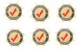 6 Garantie Buttons mit Sternen