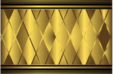 Golden geometric background (vector)