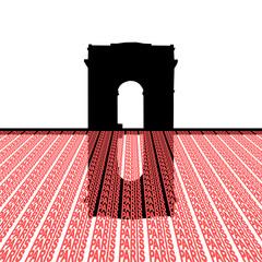 Arc de Triomphe with Paris text