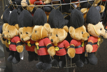 Teddy bears dressed as Guards