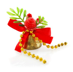 Christmas hand bell with red bow