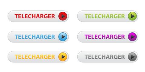 """Boutons """" Télécharger """" : Poster (6 couleurs)"""