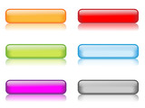 Fototapety Gel Rectangular Buttons (various colours with reflection)