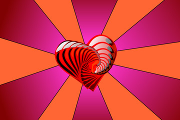 Psychedelic heart shell