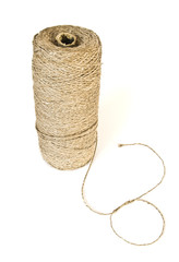 Roll of twine isolated