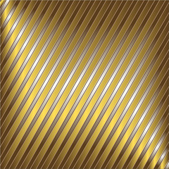 Diagonal silver and golden striped background (vector)