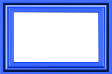 3D Blue Pictureframe - Isolated Clipping