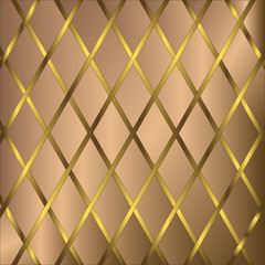 Coffee and golden geometric background (vector)